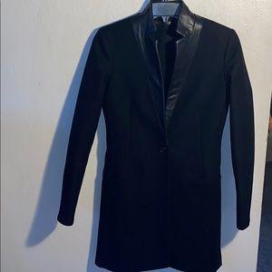All Saints Wool w/ leather trim Jacket